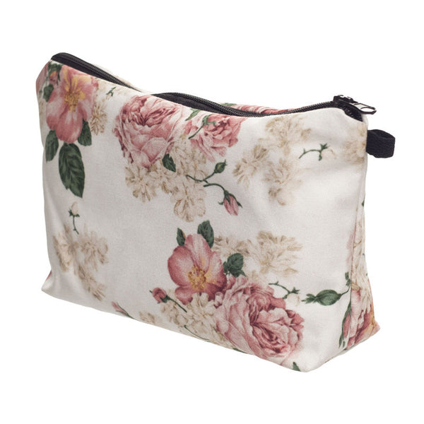 Vintage Rose Large Makeup Travel Cosmetics Bag