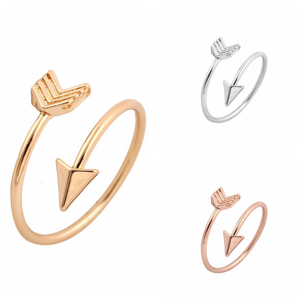 Small Arrow Wrap Rings in Gold, Silver & Rose Gold
