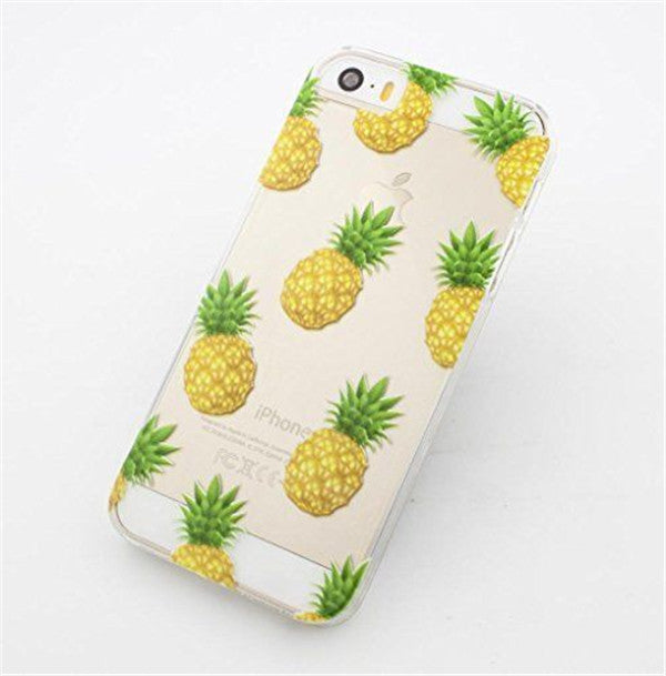 Pineapple Transparent Case Cover For Apple iPhone 5 5S 5C 6 6 Plus