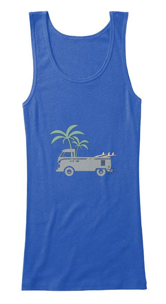 Friday Afternoon Women's Vintage Surf Bus Tank Blue