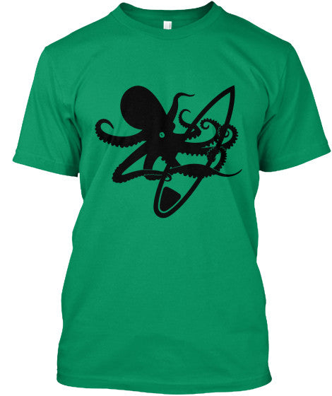 Confiscator Men's Green American Apparel Octopus Surf Shirt