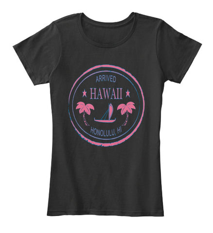 Arrived Hawaii Vintage Passport Stamp Women's Shirt