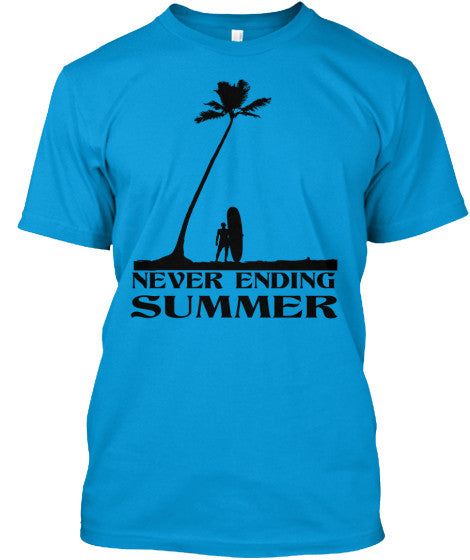 Never Ending Summer Men's American Apparel Surf Shirt