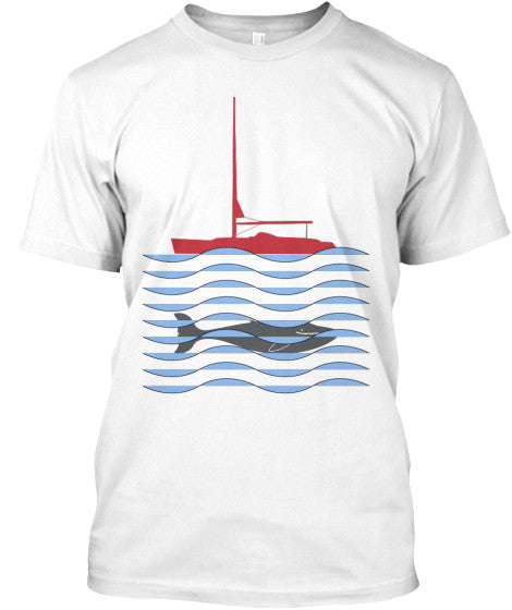 Men's Grey  Whale Sailing Shirt
