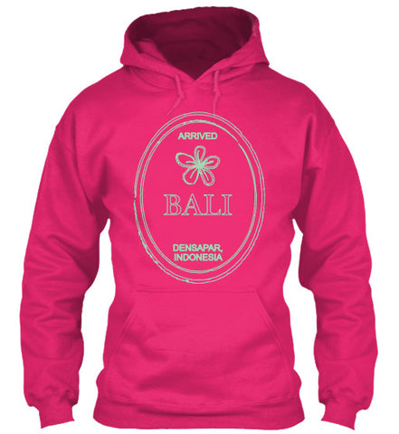 Arrived  Bali DENPASAR Indonesia Passport Travel Stamp Women's Hoodie