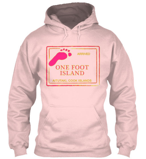 Gear Hunter Surf Arrived Cook Island Passport Women's Hoodie One Foot Island Light Pink