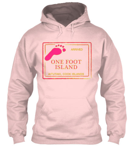 Arrived Cook Island Passport Stamp Women's Hoodie One Foot Island Shirt