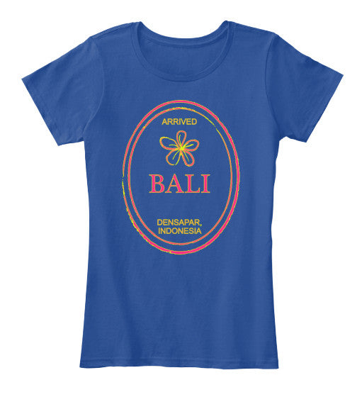 Fresh From Bali Vintage Passport Stamp Women's Shirt