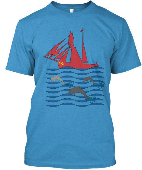 Dolphin Run Men's Blue Sailing Shirt