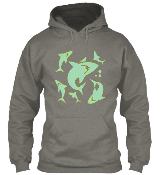 Shark Swarm Men's Surf Shirt & Hoodies