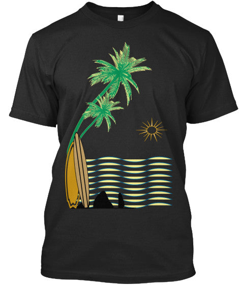 Golden Hour Sunset Beach Hawaii Men's Surf Shirt