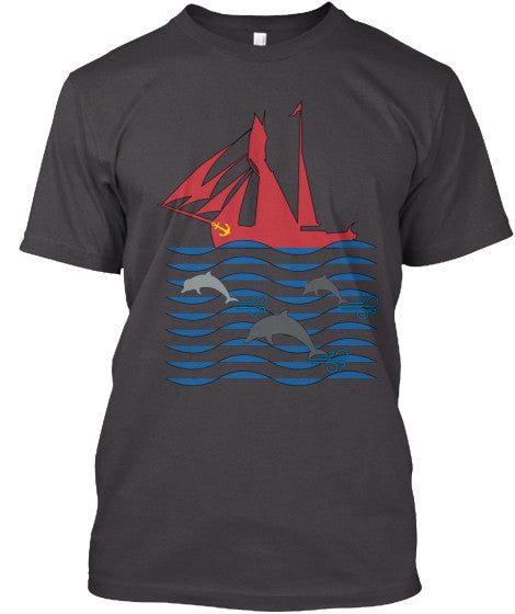 Dolphin Run Men's Grey Sailing Shirt