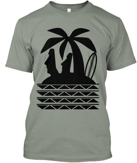 Moai Surf Island Men's Shirt