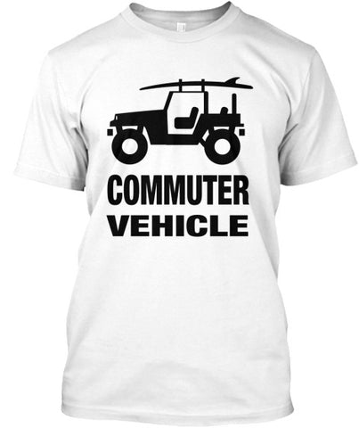 Men's Commuter Vehicle Jeep Surf Shirt White