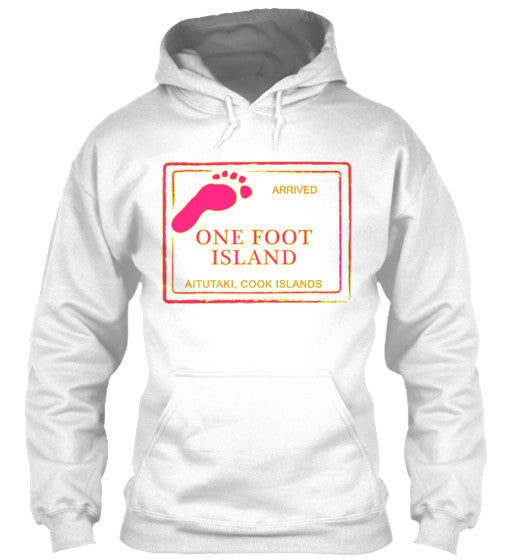 Gear Hunter Surf Arrived Cook Island Passport Women's Hoodie One Foot Island White