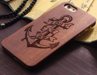 Lost At Sea Nautical Anchor Wood Case for iPhone 6 6S 4.7""