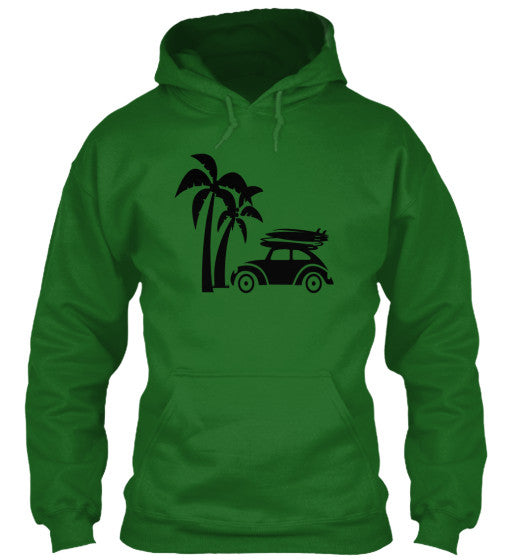 Vintage Ride Men's Surf Hoodie Irish Green
