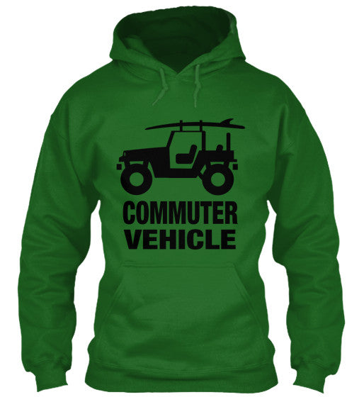 Men's Commuter Vehicle Jeep Surf Hoodie Green