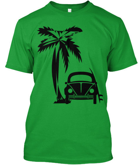 Men's Vintage Surf Bug Shirt Bus Green