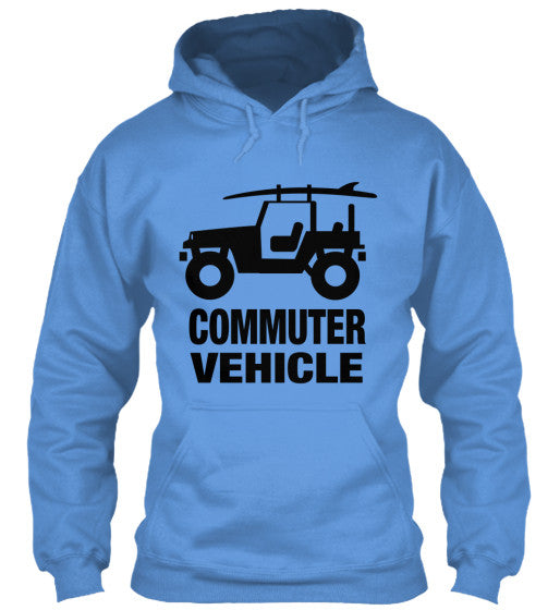 Men's Commuter Vehicle Jeep Surf Hoodie Light Blue