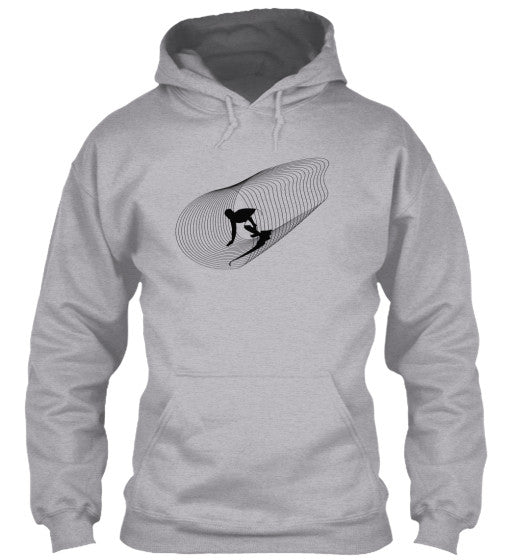 Inside Out Men's Sport Grey Surf  Hoodie