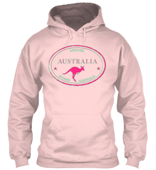 Arrived Australia Vintage Passport Stamp Women's Hoodie