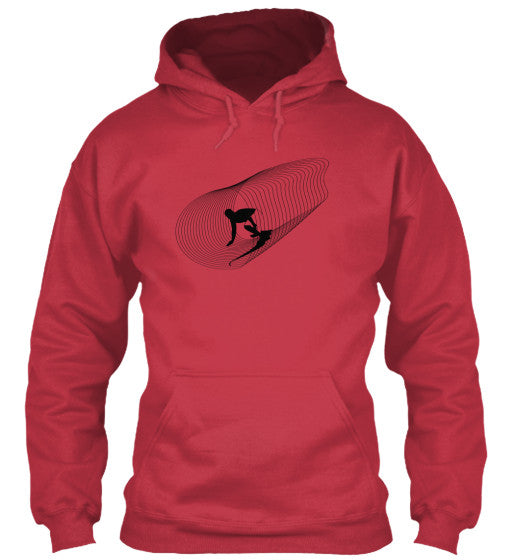 Inside Out Men's Cardinal Red Surf  Hoodie