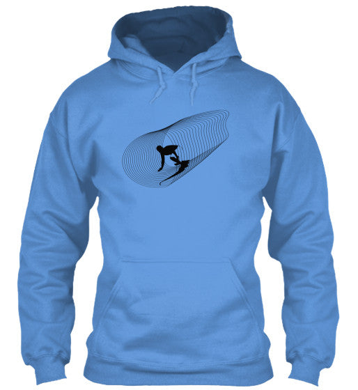 Inside Out Men's Carolina Blue Surf  Hoodie