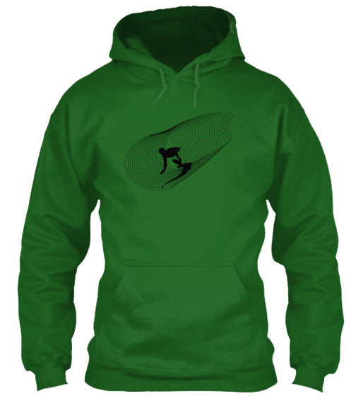 Inside Out Men's Irish Green Surf  Hoodie