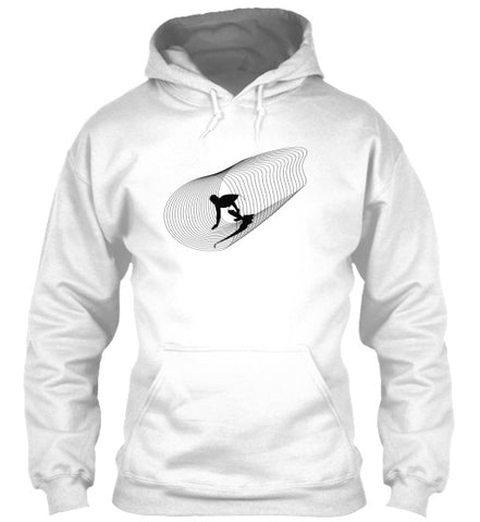 Inside Out Men's White Surf Hoodie