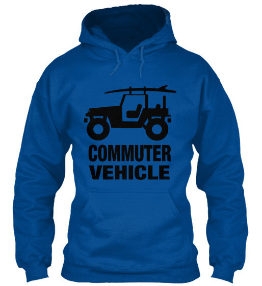 Men's Commuter Vehicle Jeep Surf Hoodie Blue