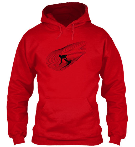 Inside Out Men's Red Surf  Hoodie
