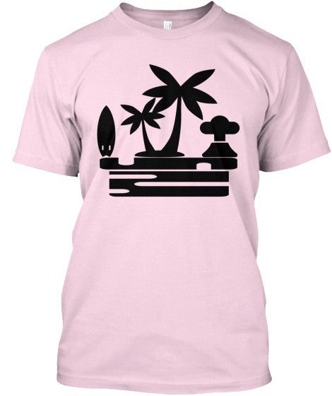 Island Vibes Pink Men's American Apparel Surf Shirt