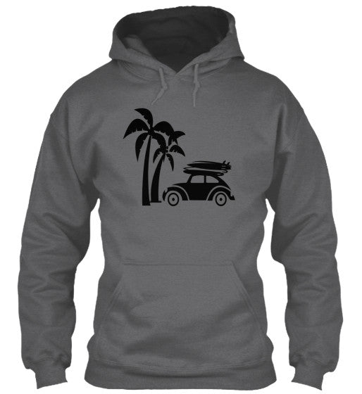 Vintage Ride Men's Surf Hoodie Dark Heather