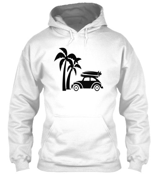 Vintage Ride Men's Surf Hoodie White