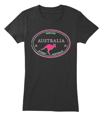 Arrived Australia Vintage Passport Stamp Women's Shirt