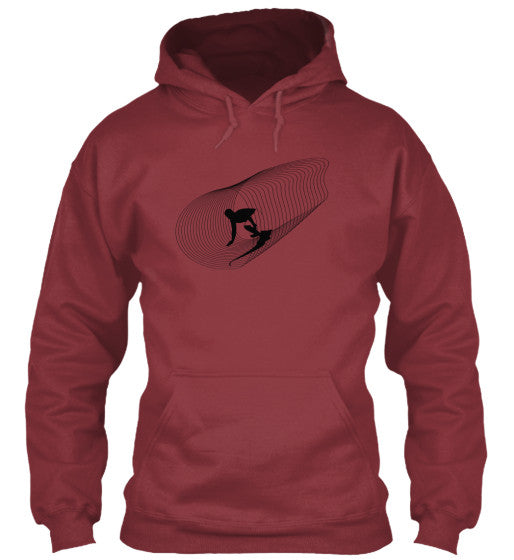 Inside Out Men's Maroon Surf  Hoodie