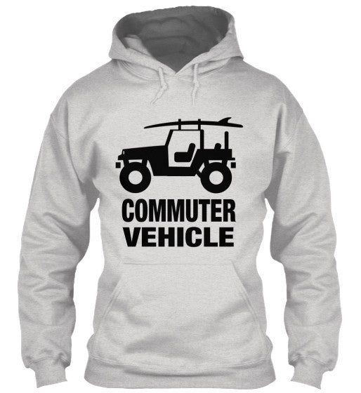 Men's Commuter Vehicle Jeep Surf Hoodie Grey
