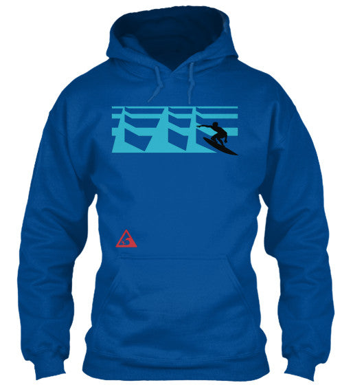 Surf Sets Men's Surfing Hoodie with Big Wave Warning Sign