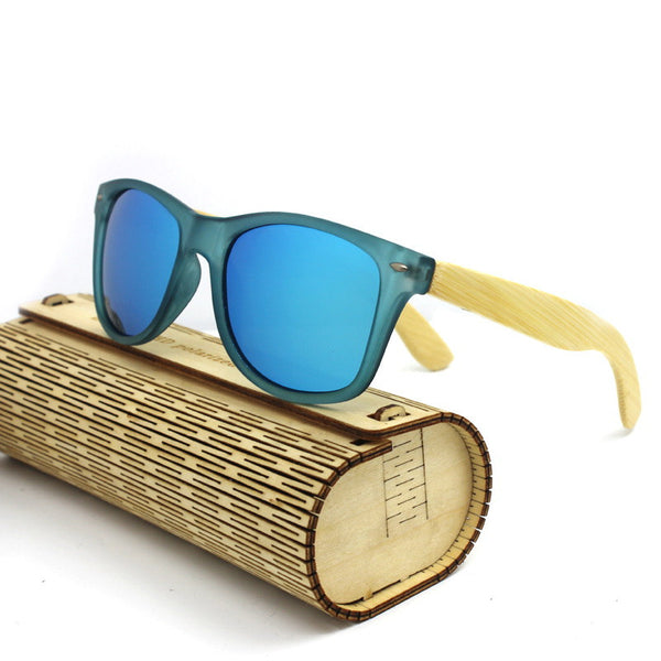 Retro Bamboo Wood Sunglasses for Men HD Polarized  UV400 Protection