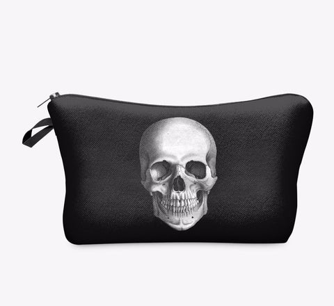 Black Skull Pirate Makeup Cosmetics Bag