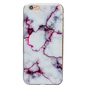 Purple Marble Soft Case for Apple iPhone  6 6S, 6S Plus