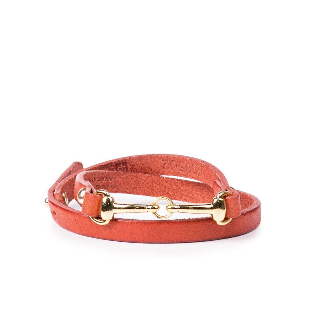 Linea Pelle Wrap Harness Bracelet in Pumpkin