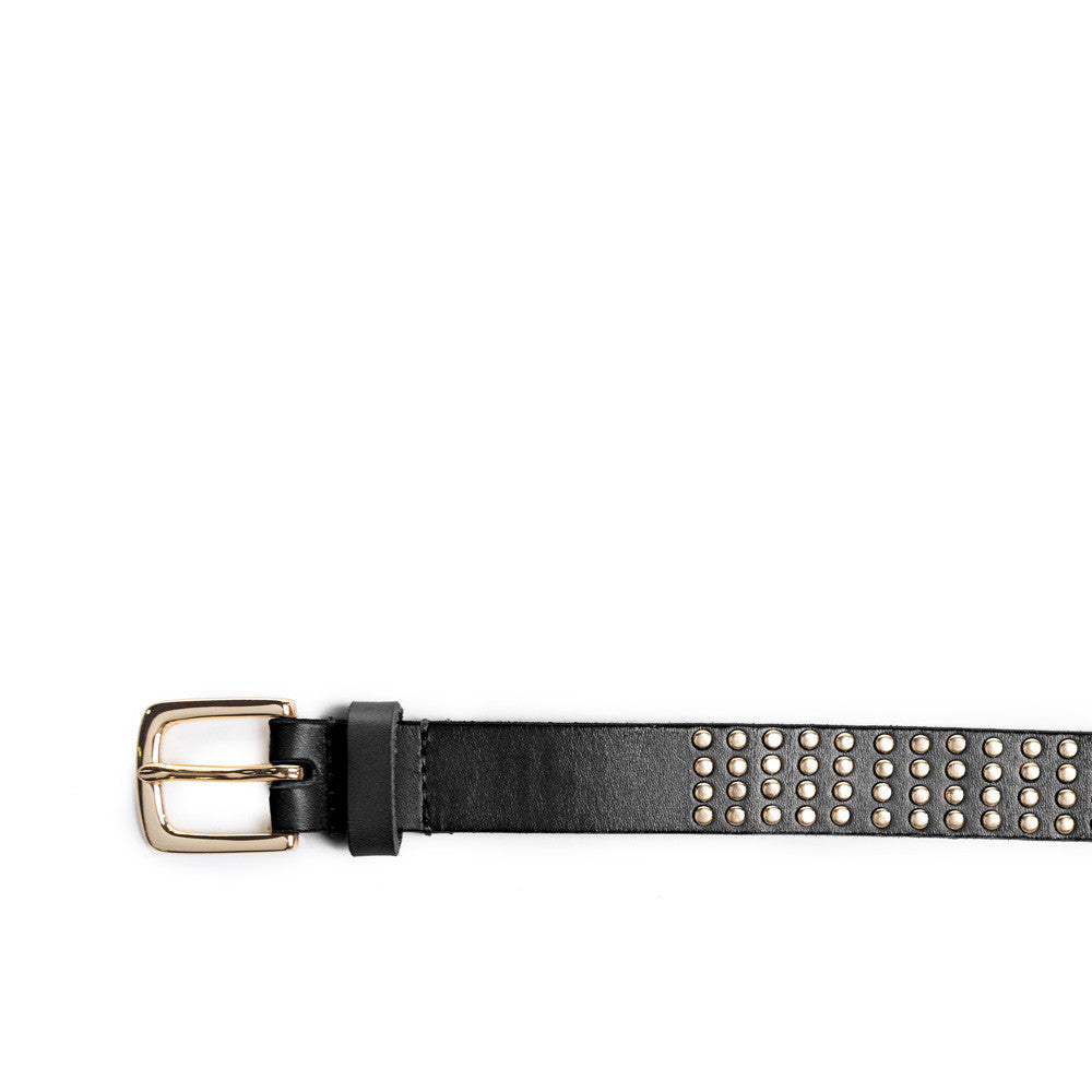 Linea Pelle Avery Studded Hip Belt in Black
