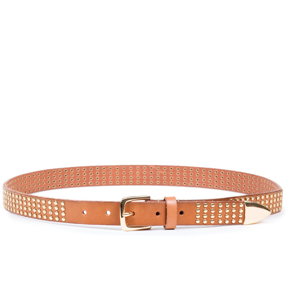 Linea Pelle Avery Studded Hip Belt in Nutmeg