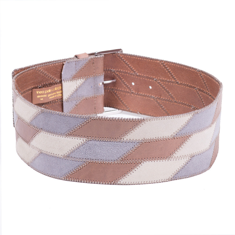 Linea Pelle Wide Patchwork Waist Belt