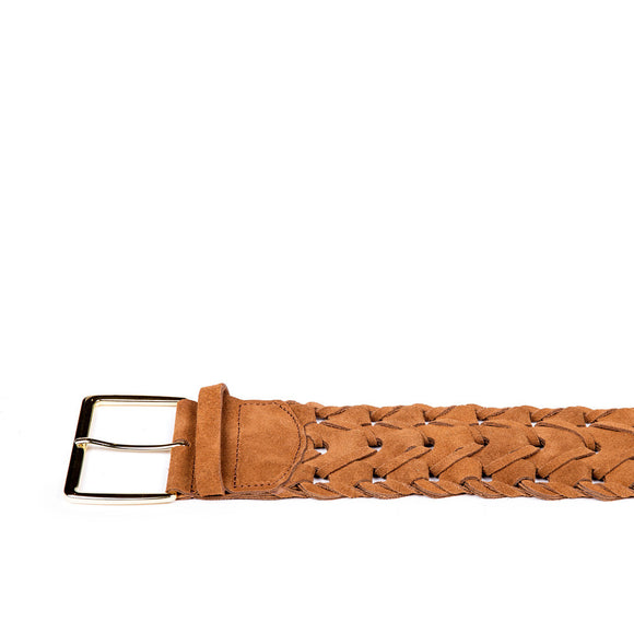 Wide Suede Link Waist Belt