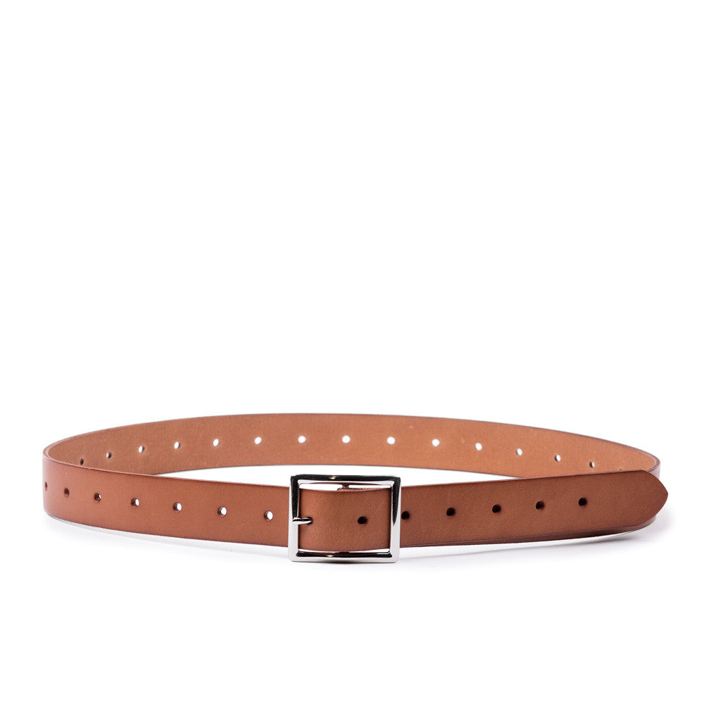 Linea Pelle Basic Jean Belt in Nutmeg