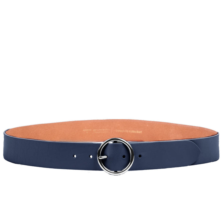 Linea Pelle Round Buckle Hip Belt in Midnight
