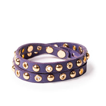 Load image into Gallery viewer, Linea Pelle Double Wrap Bracelet in Concord